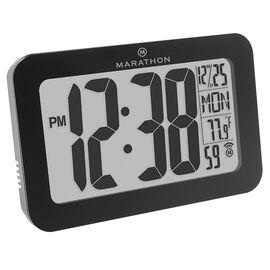 Marathon Atomic Wall Clock - Black - CL030033BK