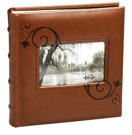 Pioneer Embossed Leatherette Cover Photo Album - Brown - 2UP