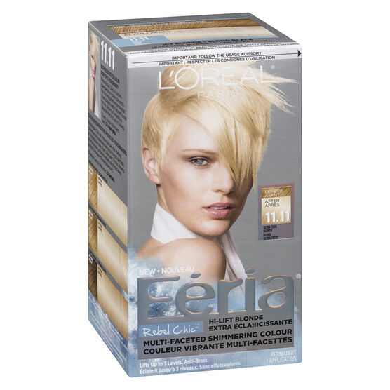 L'Oreal Feria Rebel Chic Permanent Hair Colour - 11.11 Ultra Cool ...