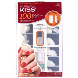 Kiss Full Cover Nails - Short Square - 100's