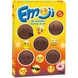 Emoji Solid Milk Chocolate - 70g