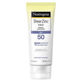 Neutrogena Sheer Zinc Face Mineral Sunscreen - SPF50 - 59ml