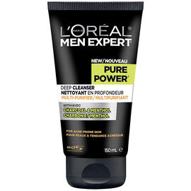 L'Oreal Men Expert Pure Power Deep Cleanser for Acne Prone Skin - 150ml