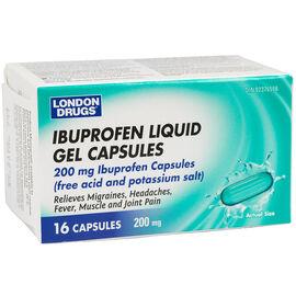 London Drugs Ibuprofen Liquid Gel Capsules - 200mg - 16's