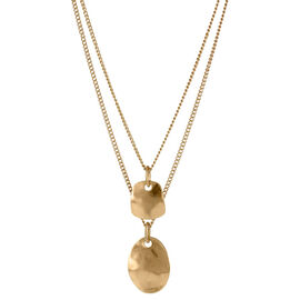 Kenneth Cole Two Row Necklace - Gold Tone