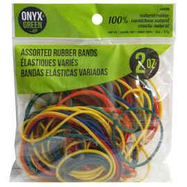 Onyx Green Assorted Rubber Bands