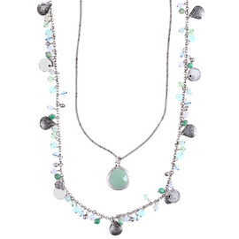 Lonna Lilly Multi 2-in-1 Shaky Necklace - Blue