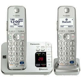 Panasonic Link2Cell Bluetooth Cordless Phone - 2 Handsets - KX-TGE262S