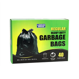 London Drugs Heavy Duty Garbage Bags with Tie - 40's