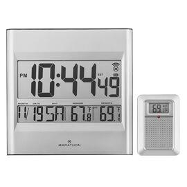 Marathon Atomic Wall Clock - Grey - CL030027GG