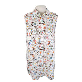 Lava Sleeveless Floral Blouse - White/Floral