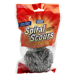 London Drugs Extra Strong Spiral Scours - Stainless Steel  - 2 pack