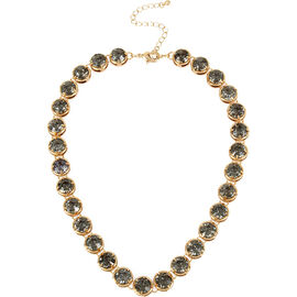 Haskell Crystal Necklace - Black Diamond/Gold