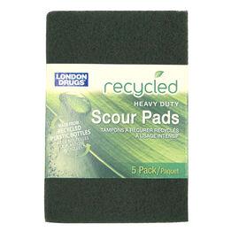 London Drugs Heavy Duty Scour Pads - 6 x 4inch - 5's
