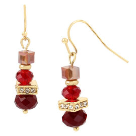 Haskell Drop Earrings - Berry/Gold