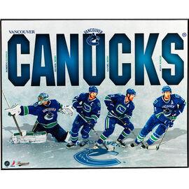 "NHL Canucks Team Plaque - 8 x 10"""