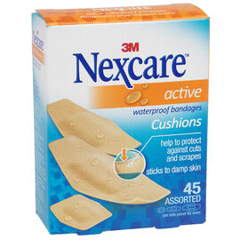 3M Nexcare Active Tan Bandages - 45's