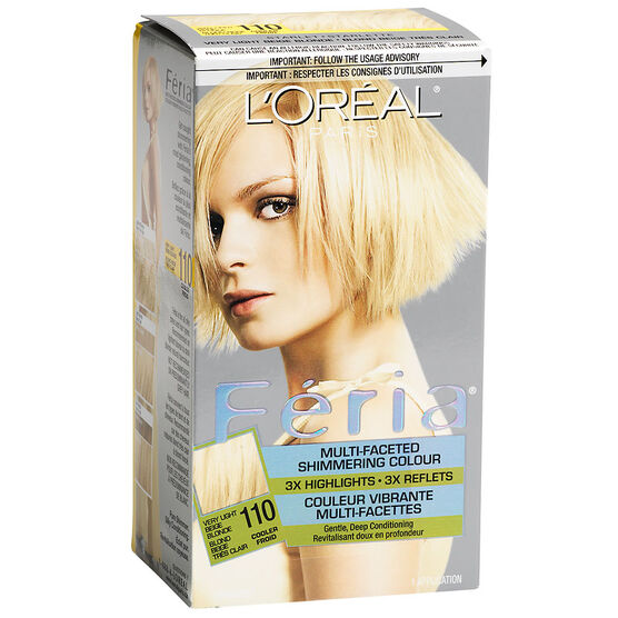 L'Oreal Feria Hair Colour - 110 Very Light Beige Blonde | London Drugs