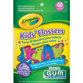 G.U.M. Crayola Kids' Flossers - 40's