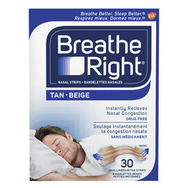 Breathe Right Nasal Strips - Tan - Small/Medium - 30's
