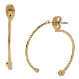 Haskell Front and Back Hoop Earrings - Gold