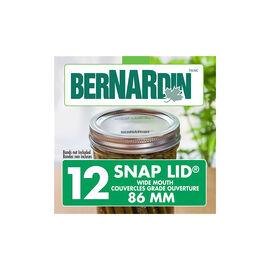 Bernardin Lids for Wide Mouth Jars - 86mm - 12 pack
