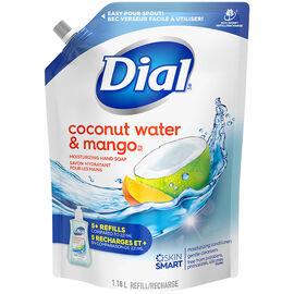 Dial Liquid Soap Refill - Coconut Water & Mango - 1.18L