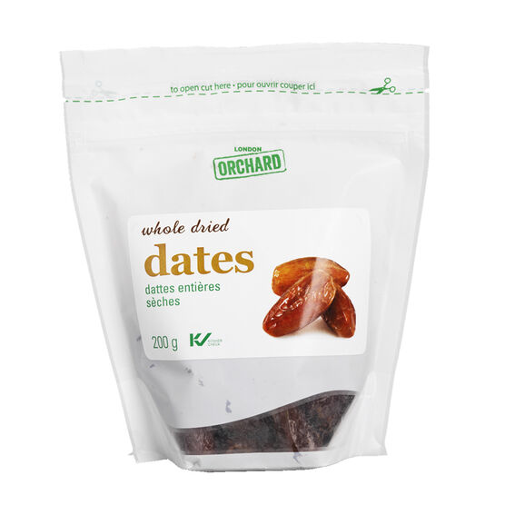 London Orchard Dates - Whole Dried - 200g