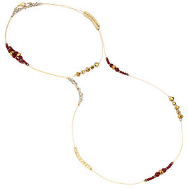 Haskell Illusion Necklace - Berry/Gold