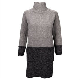Valenti Ladies Knit Tunic - Charcoal - S-XL