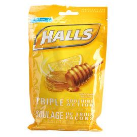 Halls Mentho-Lyptus Drops - Honey Lemon - 30's