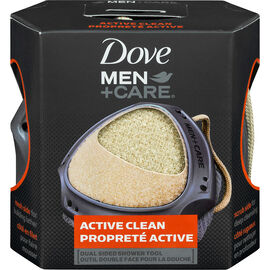 Dove Men +Care Active Clean Dual Sided Shower Tool - 1 Count