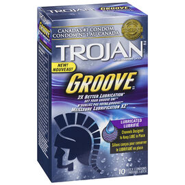 Trojan Groove Lubricated Condoms - 10's