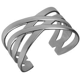 Haskell Silver Weave Cuff Bracelet