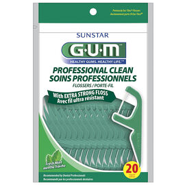 G.U.M Flosser Professional Clean - Fresh Mint -20's