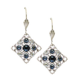 Anne Koplik Filagree Montana Blue Diamond Shaped Earrings