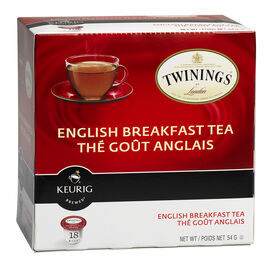 Keurig K-Cup Twinning's Tea Pods - English Breakfast - 18's