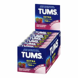 Tums Extra Strength Chewable Tablets Antacid - Berries - 1 Roll
