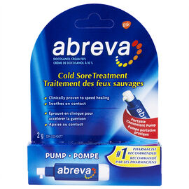 Abreva Cold Sore Treatment Pump - 2g