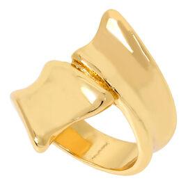Robert Lee Morris Shiny Bipass Ring - 7.5 - Gold