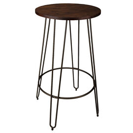 London Drugs Elmwood Bar Table with Metal Legs - 60 x 105cm