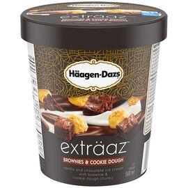 Haagen Dazs Brownie & Cookie Dough Ice Cream - 500ml