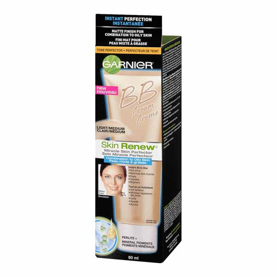 Garnier Skin Renew BB Cream Miracle Skin Perfector for Combination to Oily Skin - Light/Medium - 60ml