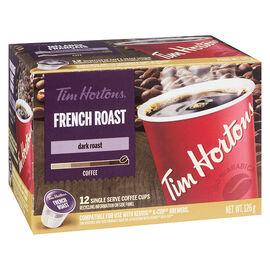 Tim Hortons French Roast K-Cup Coffee - Dark Roast - 12 Servings
