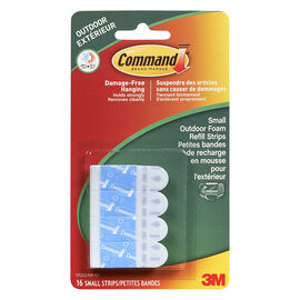 Command™ Small Outdoor Foam Refill Strips - 16's