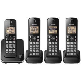 Panasonic 4 Handset Cordless Phone - Black - KXTGC384B