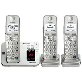 Panasonic Link2Cell Bluetooth Cellular Convergence Solution with 3 Handsets - KX-TGE263S