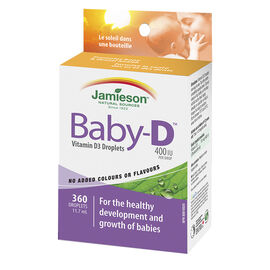 Jamieson Baby-D Vitamin D3 Droplets 400 iu - 11.7ml