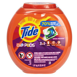 Tide Pods Laundry Detergent - Spring Meadows - 72's
