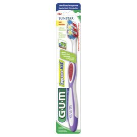 G.U.M Tooth Brush Supreme Max with Cheek and Tongue Cleaner - Medium